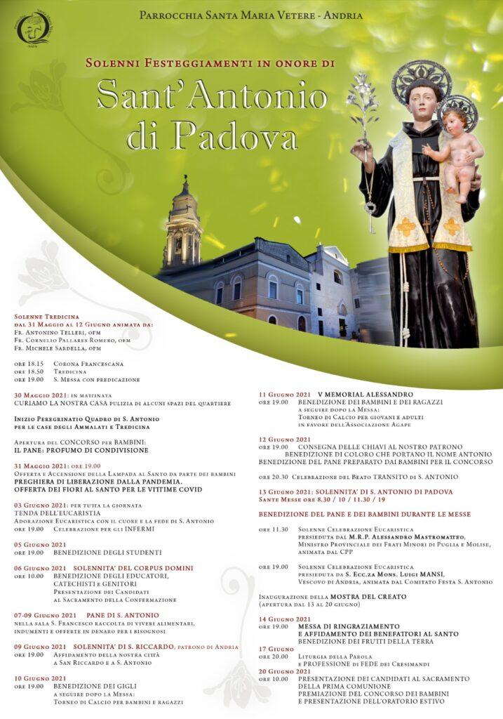 Locandina Sant'Antonio 2021
