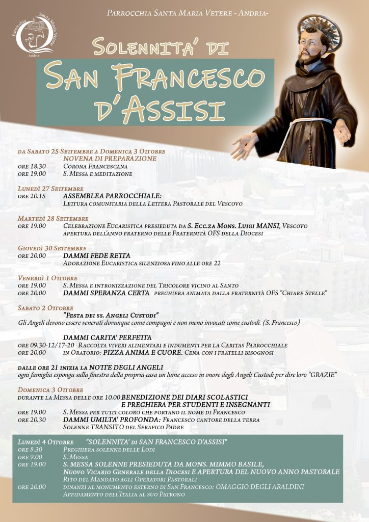 Celebrazioni Festa San Francesco 2021