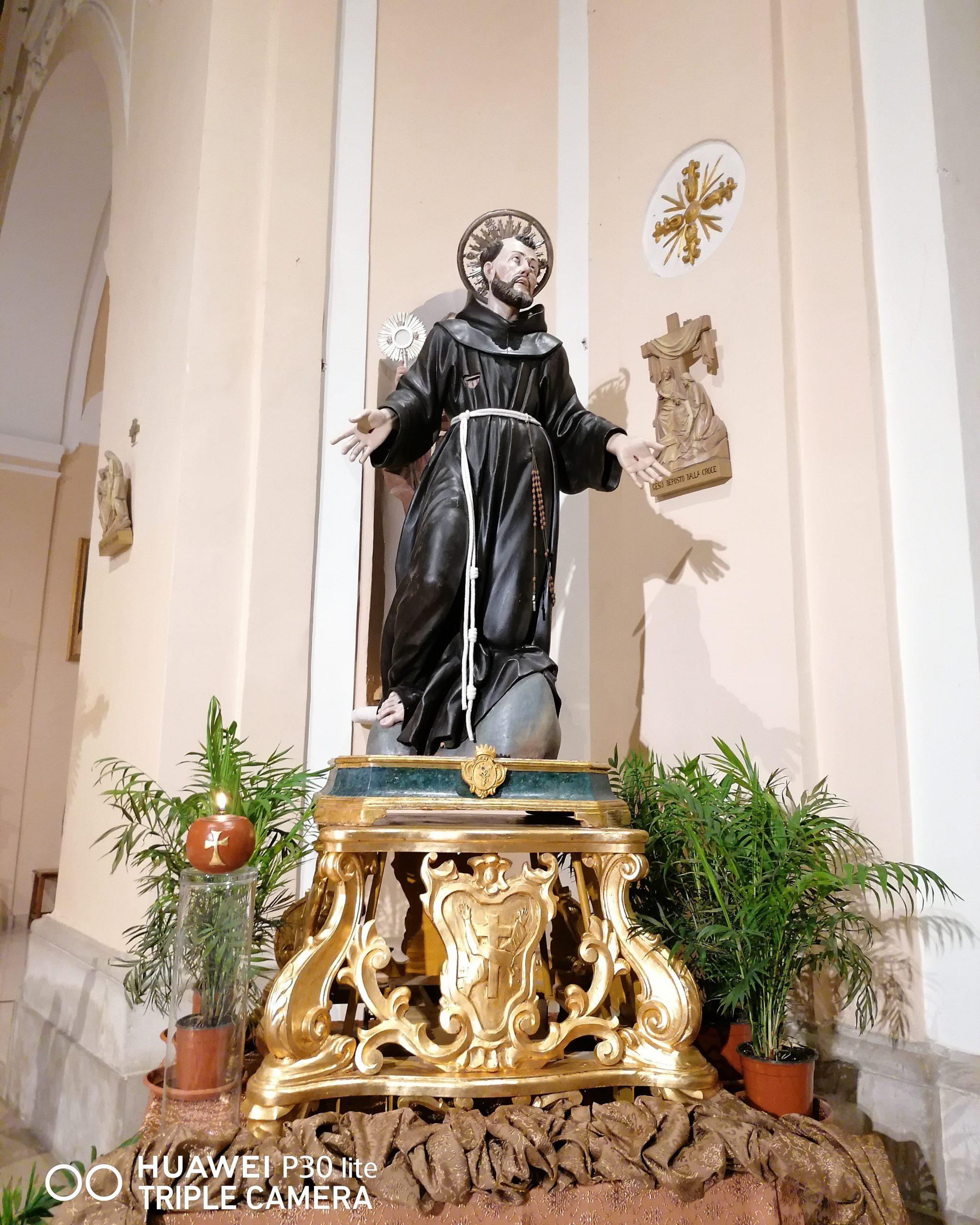 Statua San Francesco Ottobre 2021
