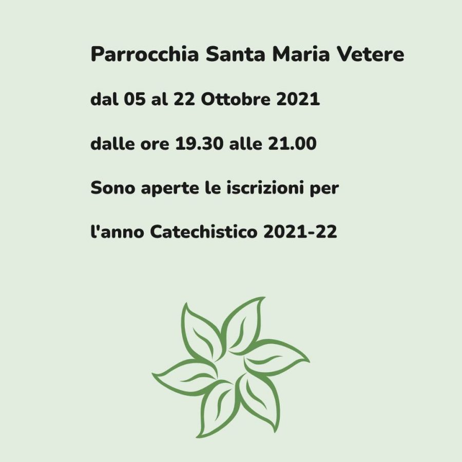 Catechismo 2021-22